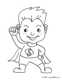 SUPERHERO Kid Costume Coloring Page Do You Like CARNIVAL Pages Can Print Out This Pagev Or Color It Online