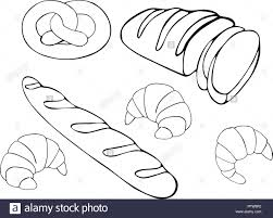 Bread Raster Hand Drawn Set Illustration Gluten Food Bakery Collection Isolated On White Background