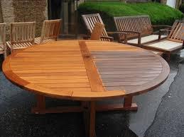 Image Of Large Round Teak Wood Table