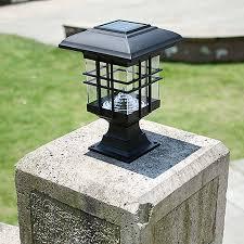 retro led solar panel l pillar wall l outdoor solar lights