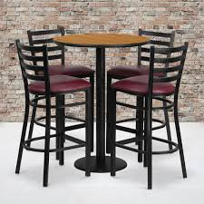 30RD Natural Table Set-RD Base-4 Ladder Back Stools,Burgundy Seat Pub Chairs 2 Fabric Bar Stools With Solid Wooden Awesome Used Table And Chair Fniture For Sale Stool Us 99 Banquetas New 2019 Wood Modern Sillas Para Barra Retro Iron Cafe Combination Round High Benchin Singapore By Masons Home Decor Hot Item Rose Gold Metal Cheap Velvet Counter Minimalist Casual For Drewing Brown 5 Pc Rectangular 4 Upholstered Tables Party Time Rentals Durable Top Cocktail Buy Tablesbar Chairshigh Product On Flash Sale Bn Tables And Chairs Combination Negotiate A Square Table Smatrik Adorable Bars Sets Ding