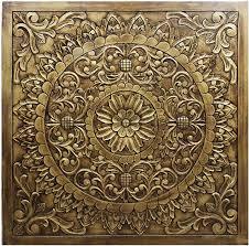 orientalische holz ornament wanddeko badu 120cm gross orientalisches wandbild wanpannel in braun als wanddekoration vintage triptychon als