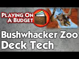 Zoo Mtg Deck List by Playing On A Budget Modern Bushwhacker Zoo Deck Tech Youtube