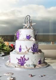 Beach Wedding Cake Elegant Themed Inspiration