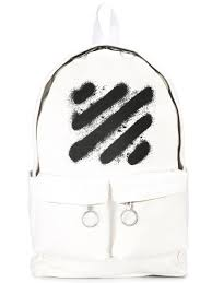 off white dress shirt slim fit off white double pockets backpack