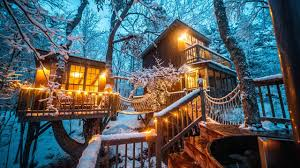 100 Tree Houses With Hot Tubs Magical House With A Wood Fired Tub