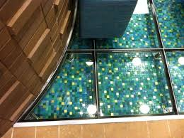 crafted glass floor looks like water by liquidoranges studio