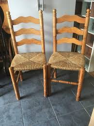 TWO NICE PINE LADDER BACK CHAIRS WITH RUSH SEATS | In Coalville,  Leicestershire | Gumtree 6 Ladder Back Chairs In Great Boughton For 9000 Sale Birch Ladder Back Rush Seated Rocking Chair Antiques Atlas Childs Highchair Ladderback Childs Highchair Machine Age New Englands Largest Selection Of Mid20th French Country Style Seat Side By Hickory Amina Arm Weathered Oak Lot 67 Set Of Eight Lancashire Ladderback Chairs Jonathan Charles Ding Room Dark With Qj494218sctdo Walter E Smithe Fniture Design A 19th Century Walnut High Chair With A Stickley Rush Weave Cape Ann Vintage Green Painted