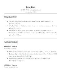 Daycare Director Resume Samples Child Care Sample Responsibilities For Job Description