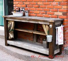Wooden Patio Bar Ideas by The Friendly Home Backyard Redo Outdoor Bar From Reclaimed Wood