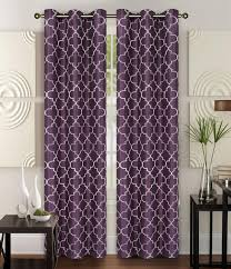 Pair of Piper Faux Silk Window Curtain Panels w Grommets