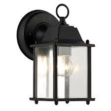bel air lighting cb 40455 bk 1 light porch light with clear