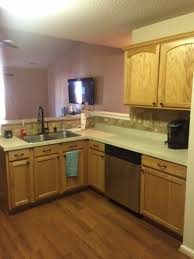Cabinet Refinishing Kit Before And After by Diy Painting Kitchen Cabinets Before And After Pics