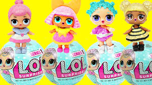 LOL Surprise Dolls New Mermaid Series All 4 Ultra Rare Glitter Baby