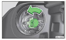 skoda fabia changing the high beam bulb halogen projector