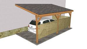 Slant Roof Shed Plans Free by Attached Carport Plans Myoutdoorplans Free Woodworking Plans