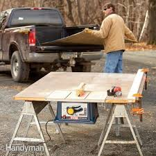 Fancy Folding Table Saw Stand How To Build A Portable The Family Handyman