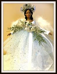 Unlit Christmas Tree Toppers by Angel Tree Topper African American Christmas Angel Tree Top Ooak