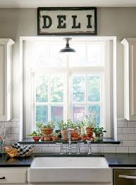 Kitchen Windowsill Lovely Blending Of Copper And Clay Pots