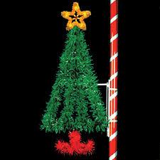 Flagpole Christmas Tree by Christmas Pole Christmas Tree Artificial Parts Light Kits
