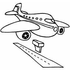 Airplane landing clip art