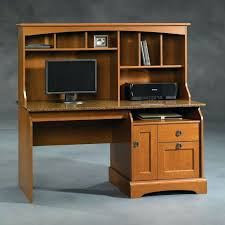 desk sauder harbor view computer desk with hutch black sauder