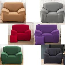 couleur canapé élastique unique canapé couverture solide couleur couverture pour