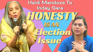 100 Heidi Mendoza AntiCorruption Advocate Responds To Inday Sara HONESTY IS AN ELECTION ISSUE
