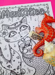 Mermaid Cats Yes Please Best Coloring Books For Cat Lovers