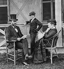 President Grant At His Cottage By The Sea