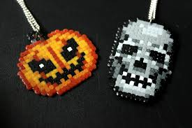 Halloween Hama Bead Patterns by Halloween Flash Sale Pumpkin And Skull Retr8bit