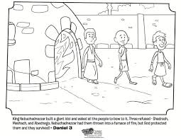 Shadrach Meshach And Abednego Coloring Page