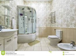 100 Interior Design For Residential House Of Bathroom In Or Hotel Stock Photo