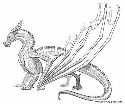 Print Realistic Dragon For Adults Coloring Pages