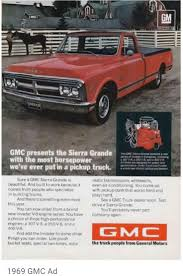 73 Best Chevrolet & GMC Truck Advertising & Art Images On Pinterest ... 1969 Gmc Pickup Information And Photos Momentcar A Love Of Mopars Pickups Were The Insipration For This Build Brigadier Stock Tsalvage1226gmdd852 Tpi Ck 1500 Sale Near Staunton Illinois 62088 Classics 2500 Super Custom Speed Monkey Cars Sale Classiccarscom Cc1022339 691970 Chevy Grille Inner Insert 4jpg Steve Mcqueens Chevrolet C10 First Gm Fac Hemmings Daily 1980 Truck