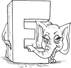 New Letter E Coloring Pages 46 For Download With