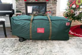 Upright Christmas Tree Storage Bag With Wheels by Treekeeper Bags Home