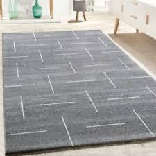 details zu designer teppich wohnzimmer modernes design in grau weiß meliert