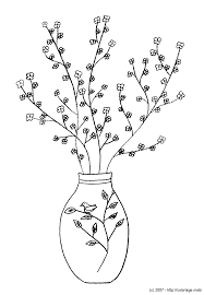 Livre De Coloriage Vase Et Fleurs Illustration De Vecteur