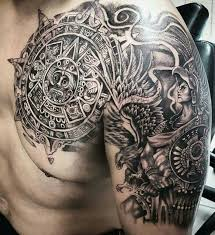 Image Gallery Of Tattoo Sleeve Aztec 20 B93ccbd30a1a8f82edec3a81a5a4bc2b Mayan Tattoos