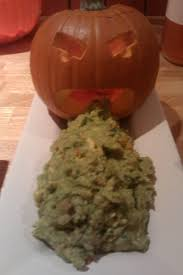 Pumpkin Throwing Up Guacamole by Appetizer Twincitieschick