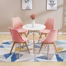 esstisch mit 4 stühlen rosa esszimmer real de