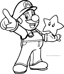 Super Mario Coloring Page Printable Pages Wii Galaxy Free Book