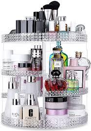 awenia 360 drehbar make up aufbewahrung kosmetik organizer aus acryl 7 verstellbare ebenen multifunktionale schminkaufbewahrung box passend für