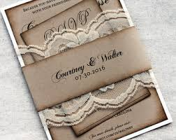 DEPOSIT Listing For 100 Rustic Wedding Invitations Lace Barn Stationary