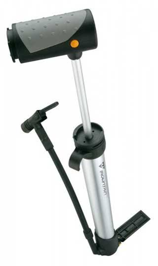 Topeak Mountain Morph Bike Cycle Hand Pump - 160psi, Silver