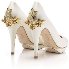 Brid te Rose Gold Harriet Wilde designer wedding shoe bridal