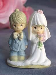 Precious Moments The Lord Bless You And Keep Small Wedding Cake Topper Figurine