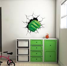 green fist smash wall decal superhero wall design kids smash