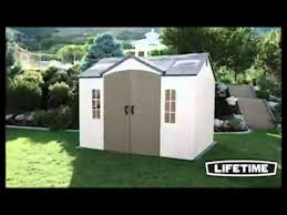 lifetime 60005 8 by 10 foot outdoor storage shed with windows